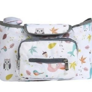 Baby Stroller Organizer & Diaper Bag - Owl Pattern